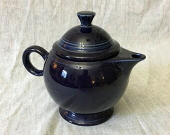 Vintage Cobalt Blue Fiestaware Teapot, Post 1986 Fiesta