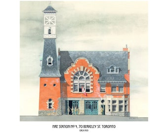 Fire Hall Art, Hall 4, Berkeley St. Toronto architecture // firefighter gift, fire station, Alumnae Theatre, Fire House, Toronto Art, Hose.