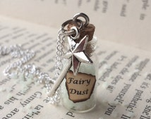 Glow-in-the-Dark Fairy Dust Bottle Necklace / Pendant / Bookmark / Decoration / Keyring