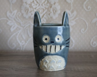 Totoro Inspired Ceramic Dish/Cup