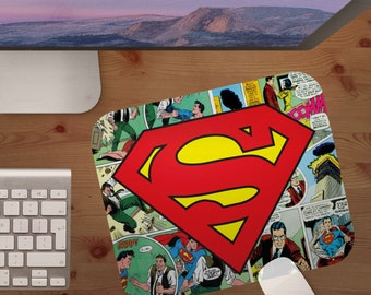 mouse pad,superman,mousepad,superman comics,mouse pads,custom mouse pads,coworker gift,gifts under 20,stocking stuffer,christmas gifts