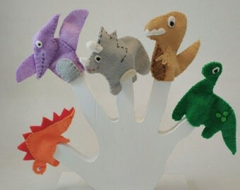 Dinosaur Finger Puppet Set