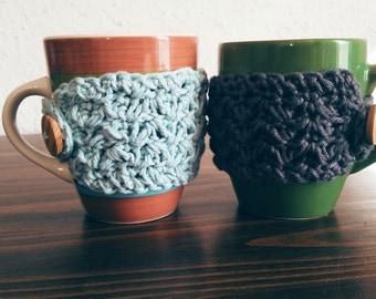 Buy Two Get One Free Crochet Cotton Coffee Mug Cozy, Ready To Ship