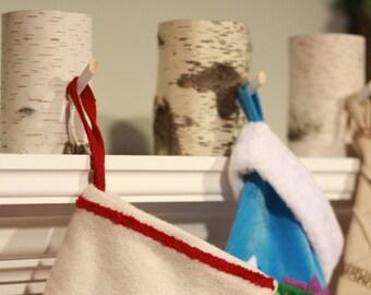 Stocking Holder- Rustic Birch Decor