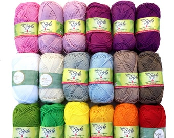 Cotton Anchor Creativa, 100 % cotton mercerised for crocheting, new colors spring summer 2016