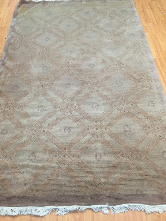 5' x 8' Indian Nepal Oriental Rug Modern Design - Hand Made - 100% Wool Pile