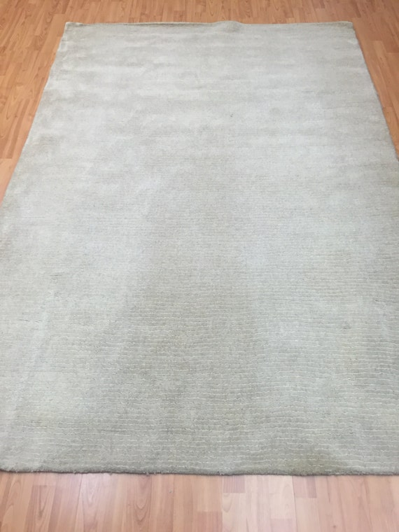 "5'2"" x 7'7"" Indian Nepal Oriental Rug - Modern - Hand Made - Wool and Silk"