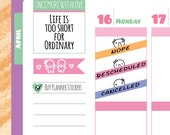 Munchkins - Nope, Rescheduled, and Cancelled Planner Stickers (M03)