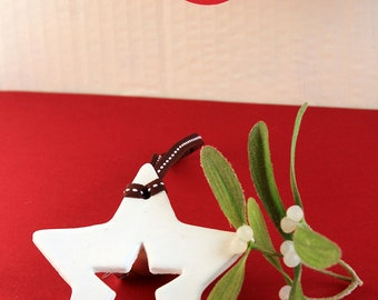 Star Clay Christmas Tree Ornament