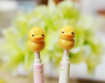 Kawaii Duck Pens / Cute Pens / Kawaii Pens / Cute Stationary / Kawaii Stationery / School Supplies / Fine Point Pens / Yellow Duck Pens