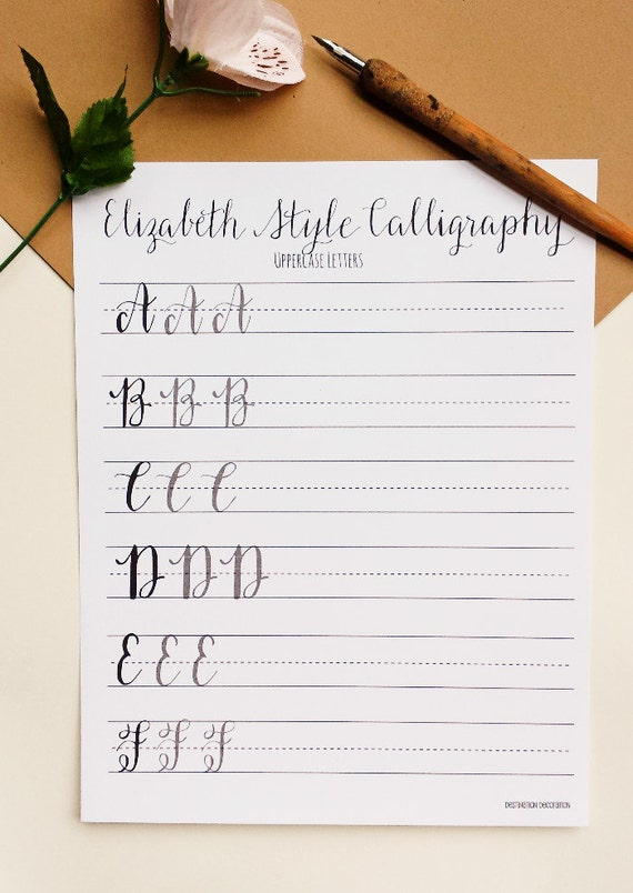 All Worksheets calligraphy writing worksheets : Modern Calligraphy Practice Worksheets | Uppercase Letters ...