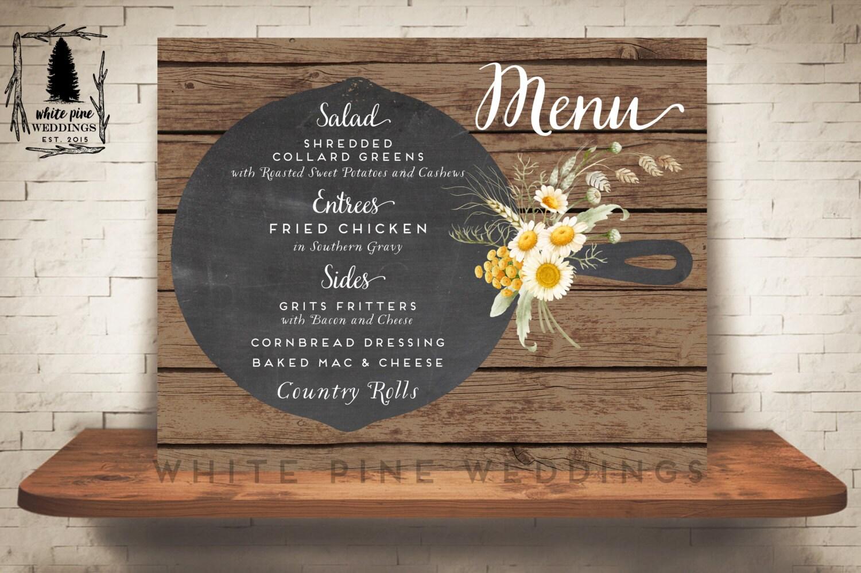 printable wedding menu wedding dinner menu custom wedding