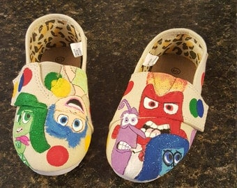 Inside Out Hand Painted Kids Slip On Shoes