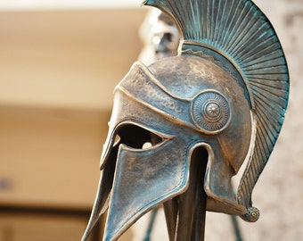 Greek Helmet,Ancient Corinthian Helmet,Greek Spartan Helmet,Ancient Greece Armor Helmet,Larp Helmet,Cosplay Helmet,Greece Аntique Аrmor,Mask