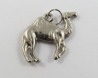 Camel Sterling Silver Charm of Pendant.
