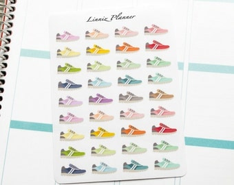 Shoe Running Walking Regular size (matte planner stickers, perfect for planners)
