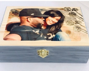 Personalized, gifts, Photo, keepsake, gifts for couples, jewelrybox,  Anniversary Gift, Wedding gift, unique gift, Engagement gift, wood box
