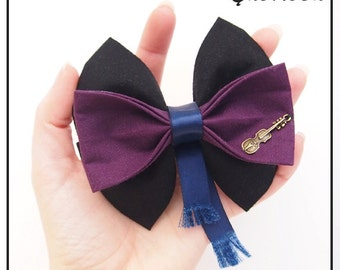 Sherlock Inspired Hair Bow / Bow Tie (Double / Single)