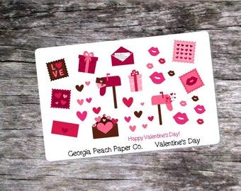 Valentine's Day Themed Planner Stickers - Made to fit Vertical or Horizontal Layout