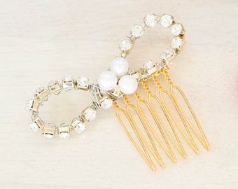 Bow hair comb || Party accessory || Bridal Accessory || 015