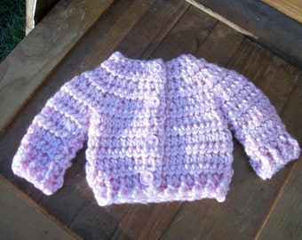 """SALE......18"""" DOLL SWEATER crocheted in soft acrylic yarn.  Handmade to fit American Girl Doll and similar 18""""dolls"""