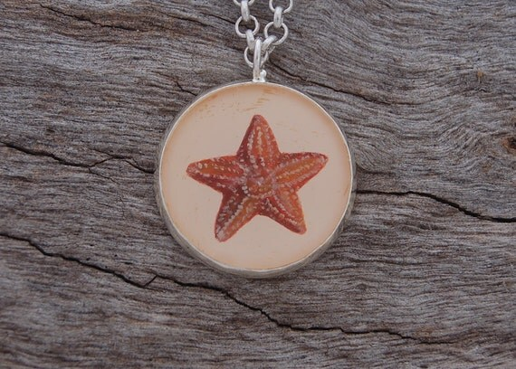 Hand Painted Starfish Pendant