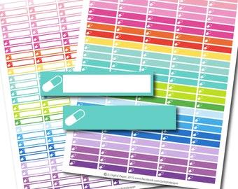Pill stickers, Pill planner stickers, Pill printable stickers, Medicine stickers, Vitamin stickers, Medication stickers, STI-163
