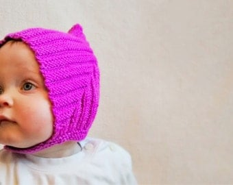 Pixie baby hat with popper fastening 7month+
