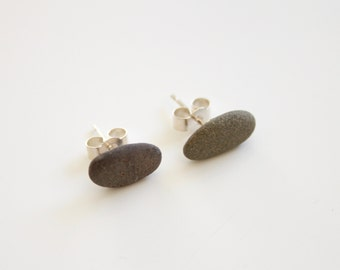 Sterling Silver Pebble Earrings, Pebble Earrings, Pebble Jewellery, Sterling Silver Earrings, Stone Earrings, Beach Earrings, Surf Jewelry