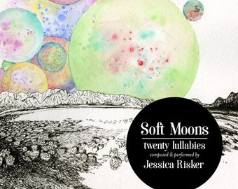Soft Moons: Twenty Lullabies (CD) (Music album of 20 charming lullabies for babies, composed for and performed on a hand-held music box)