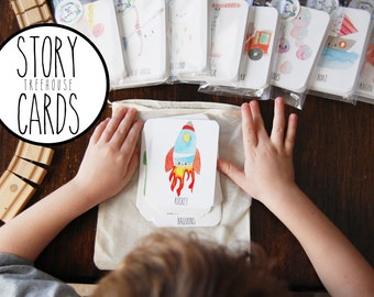 Story Cards, ORIGINAL Story Cards, Treehouse Set, story telling, creative writing, family fun, fhe, for teachers, imagination,