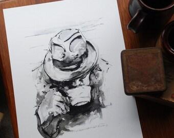 Art Print: Man with Tea