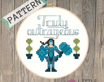 Taric is Truly Outrageous - League of Legends Cross Stitch Pattern - Instant Download PDF