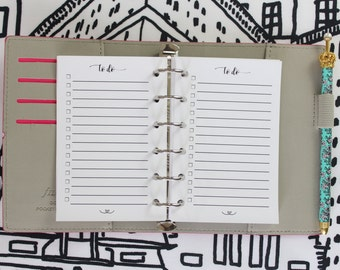 Printed POCKET Size To Do List Planner Inserts