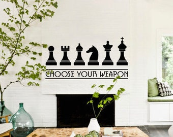 Chess Weapons Wall Decal (1278-WALL)