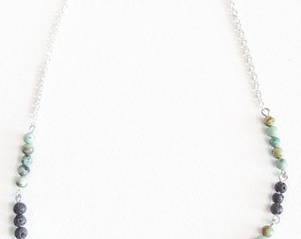 Diffuser Necklace, Beaded Necklace, Beaded Chain Necklace