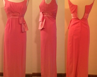 Bubble Gum Pink 1950s Wiggle Dress