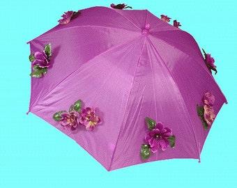 Child purple Bouquet purple umbrella