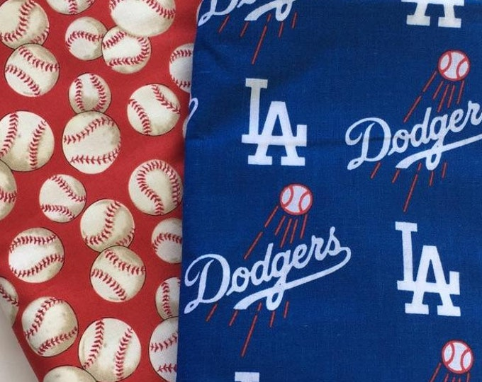 LA baseball fabric, reversible custom pet bandana,  dog scarf, pet scarf, dog bandana, pet clothing, pet attire, baseball bandana