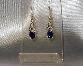 earring lapis lazuli gemstone semi precious gemstone and Sterling Silver 925