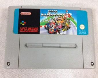 Super Mario Kart SNES - Super Nintendo - PAL SNES - Mario Bros - Mario Brothers