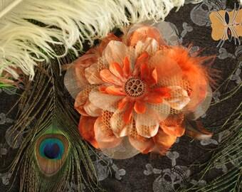 Fifties / Steampunk hair flower, flower hair 50's / Steampunk. Pin-up. Katipo Art