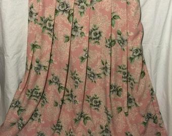 Vintage Koret High-Waisted Floral Skirt