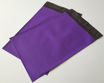100  7.5 x 10.5  Purple Poly Mailers  Self Sealing Envelopes Shipping Bags Easter Spring