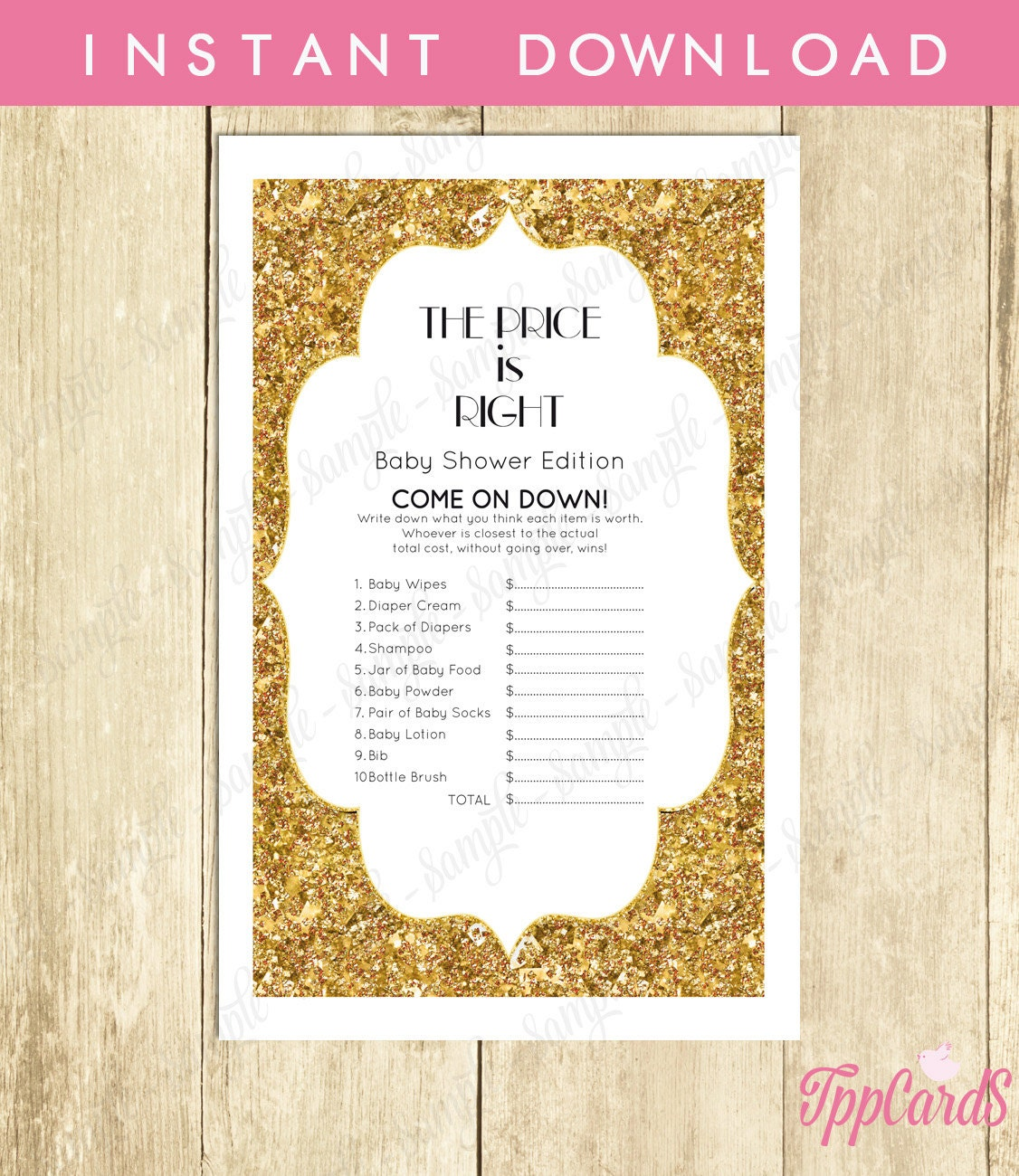 Baby Shower Games Templates | Baby Shower Games Price Is Right Tppcards