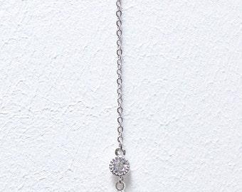 Back collar bride-Arielle-Back drop Bridal necklace-necklace back-Bridal BacDrop Necklace - Bridal Back Drop Necklace - wedding - Bridesmaids