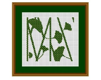 Bamboo Counted Cross Stitch Pattern. PDF Instant Download. Nature. Decor Pattern.