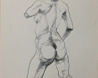 Female nude drawing