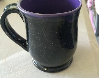 Purple and Obsidian Black Mug