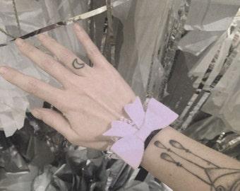 Winter Sirens - Lilac Bow Cuff